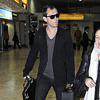 Jude Law Arrives at Heathrow