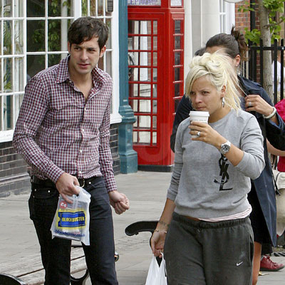 Lily Allen and Mark Ronson Hang Out in London