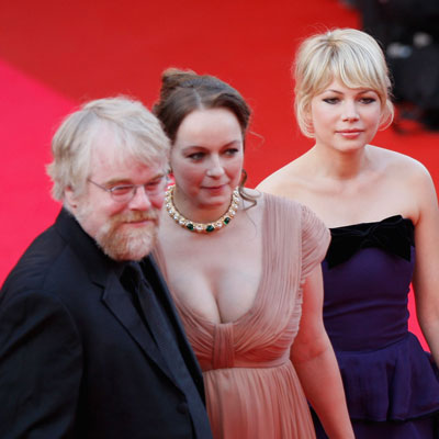 """Michelle Williams, Samantha Morton and Phillip Seymour Hoffman at the """"Synecdoche, New York"""" Premiere"""