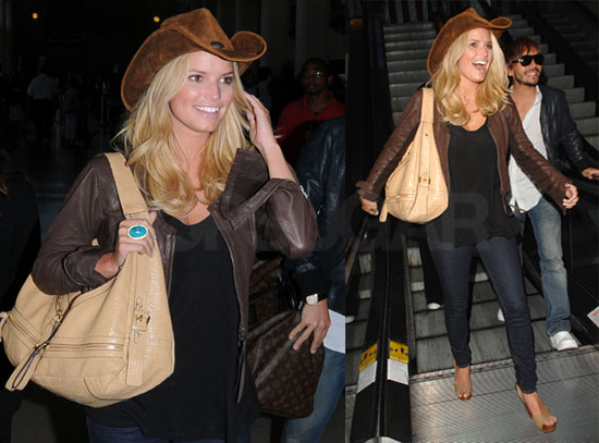 Photos of Jessica Simpson Wearing a Cowboy Hat