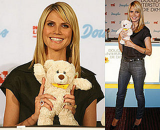 Photos of Heidi Klum in Germany For a Campaign for Cancer Cosmetics