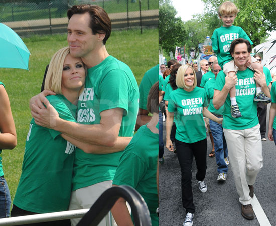 Jim Carrey Speaks at Green Our Vaccines Rally