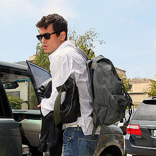 John Mayer Arrives Home