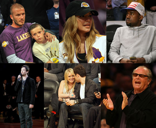 Photos of Celebrities at NBA Finals in LA