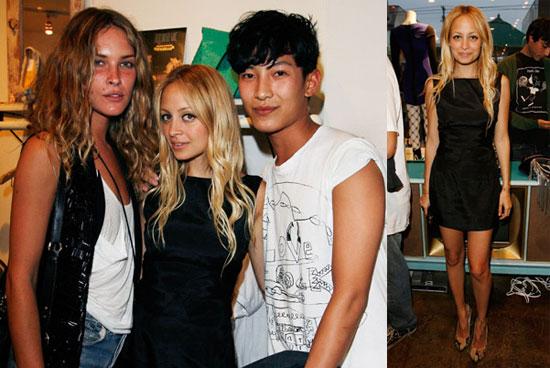 Nicole Richie, Erin Wasson, Erika Christensen at the Alexander Wang Trunk Show in LA