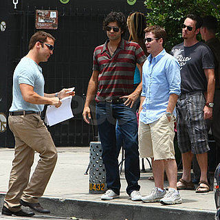 Adrian Grenier, Jeremy Piven, Kevin Connolly and Kevin Dillon Film Entourage