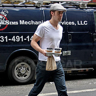 Ryan Gosling Gets Coffee in NYC