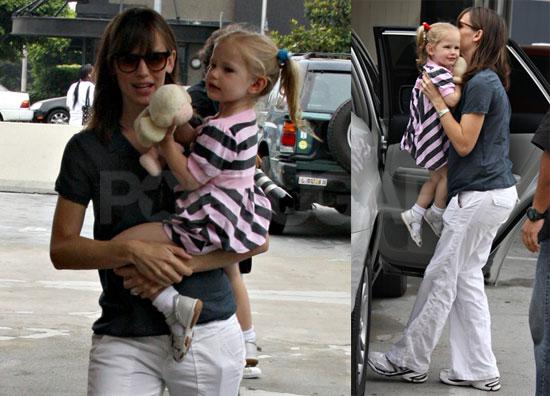 Photos of Jennifer Garner and Violet Affleck in Brentwood