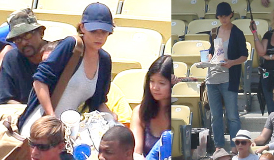 Photos of Katie Holmes on the Set of Eli Stone at Dodger Stadium