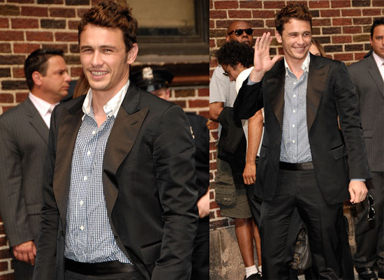Photos of James Franco at the Late Show With David Letterman