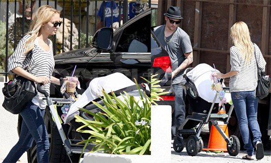 Photos of Nicole Richie and Joel Madden Pushing Harlow in a Stroller