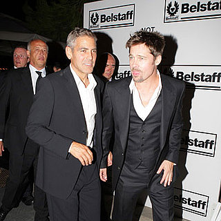 George Clooney and Brad Pitt Out in Venice