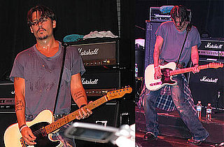 Photos of Johnny Depp Performing With His Old Band, The Kids, In Florida