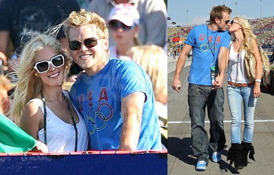 Photos of Heidi Montag and Spencer Pratt at the Nascar Pepsi 500 race
