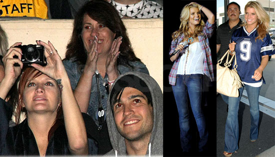 Photos of Jessica Simpson Performing at LA County Fair For Pete Wentz and Ashlee Simpson and Departing LAX in Blue Cowboy Jersey