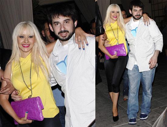 Photos of Christina Aguilera and Jordan Bratman at the Roosevelt at 3 a.m.