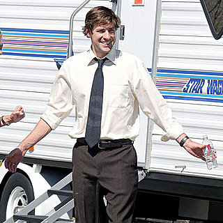 John Krasinski on the Set of The Office