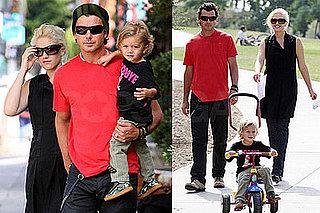 Photos of Gwen Stefani, Gavin Rossdale, Kingston Rossdale at Pan Pacific Park