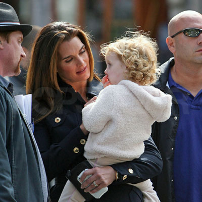 Brooke Shields and Daughter Grier Henchy on the Set of Lipstick Jungle
