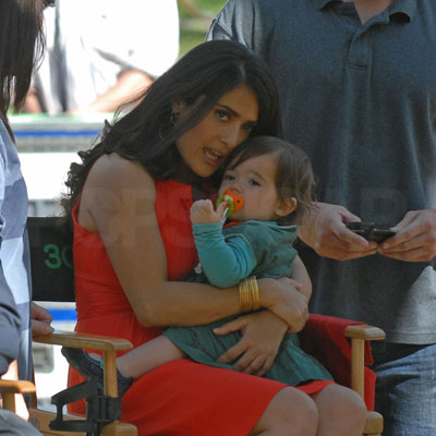 Salma Hayek and Valentina Pinault on the NYC Set of 30 Rock