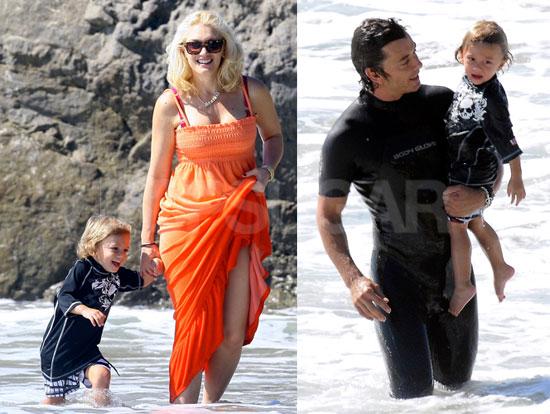 Photos of Kingston Rossdale On the Beach with Gwen Stefani, Gavin Rossdale, Zuma Rossdale, Pierce Brosnan