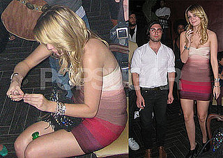 Photos of Mischa Barton Smoking What Is Suspected To Be Marijuana At A Club