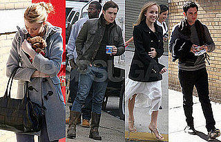 Photos of Gossip Girl's Blake Lively, Penn Badgley, Ed Westwick, Jessica Szohr Filming in Queens With Nastia Liukin
