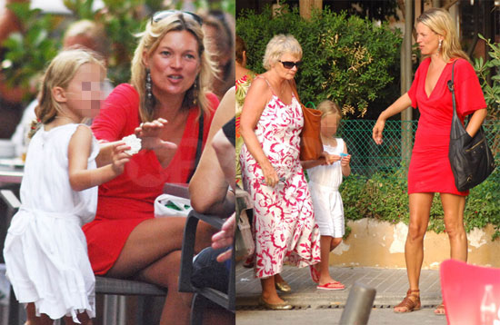 Photos of Kate Moss Having Ice Cream In Ibiza