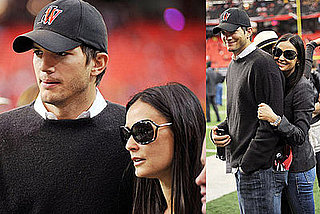 Photos of Ashton Kutcher and Demi Moore at a Football Game
