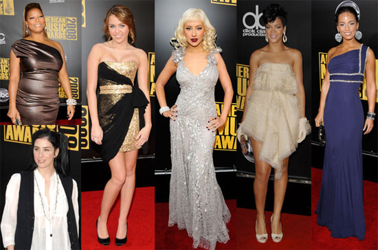 Red Carpet Photos of American Music Awards Including Christina Aguilera, Miley Cyrus, Rihanna, Alicia Keys, Taylor Swift & More