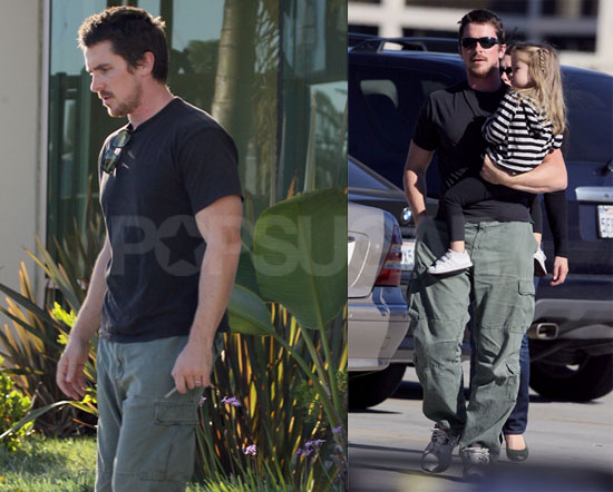 Photos of Christian Bale With Wife Sibi and Daughter Emmeline in San Diego