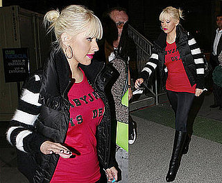 Photos of Christina Aguilera Arriving At the Nokia Theater in LA