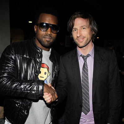 Kanye West and Spike Jonze at a Screening of The Curious Case of Benjamin Button