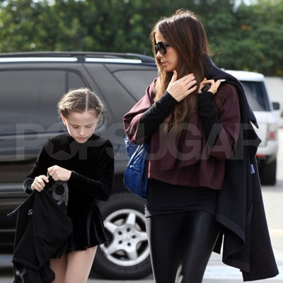 Kate Beckinsale Takes Lily Ice Skating