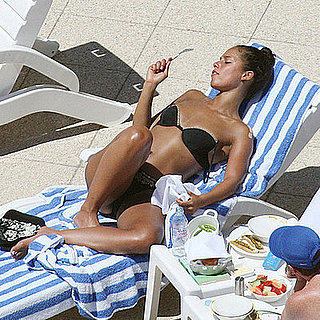 Alicia Keys Chills in Her Bikini