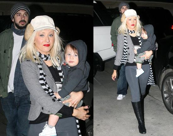 Photos of Christina Aguilera, Max Bratman, Jordan Bratman