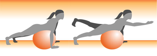 Get on the Ball: Opposite Limb Extensions