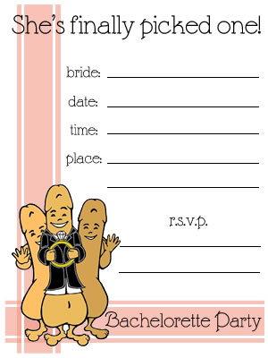 Product of the Day: Bachelorette Party Invitations