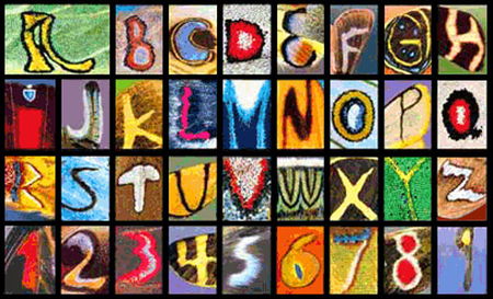 Butterfly wings alphabet. How beautiful is this?