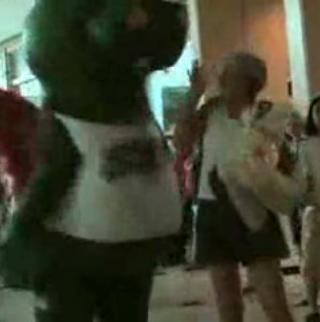 Mascot Scares Public