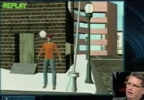 Video Animation Reenactment on Judge Alex