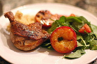 Recipe for Duck Legs with Grilled Plums