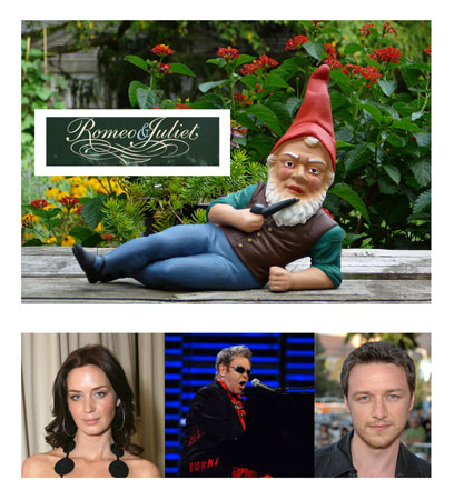 McAvoy and Blunt Join Elton John for Gnomeo and Juliet