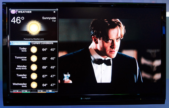 Yahoo! Unveils the Widget Channel For Televisions