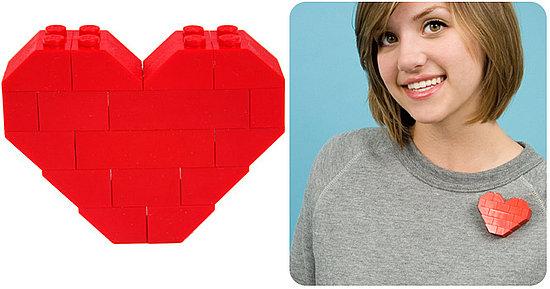 The Lego Heart Pin