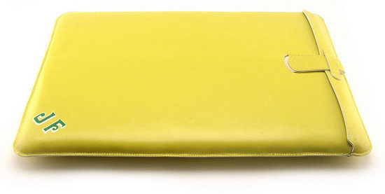 Custom Leather MacBook Air Sleeves From AB Sutton Include Your Monogram
