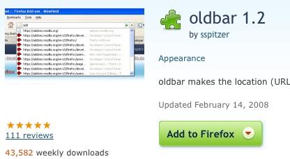 OldBar Restores Your Firefox 2 Location Bar