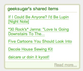 Add Shared Items to Your Blog