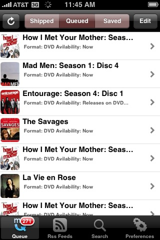 Dashbuster is an iPhone App for Managing Your Netflix or Blockbuster Queue