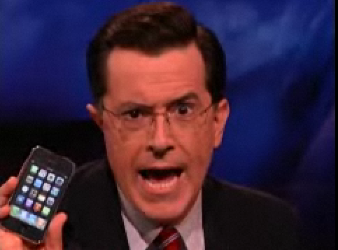 Stephen Colbert Scores an iPhone 3G With a SATC Ringtone?